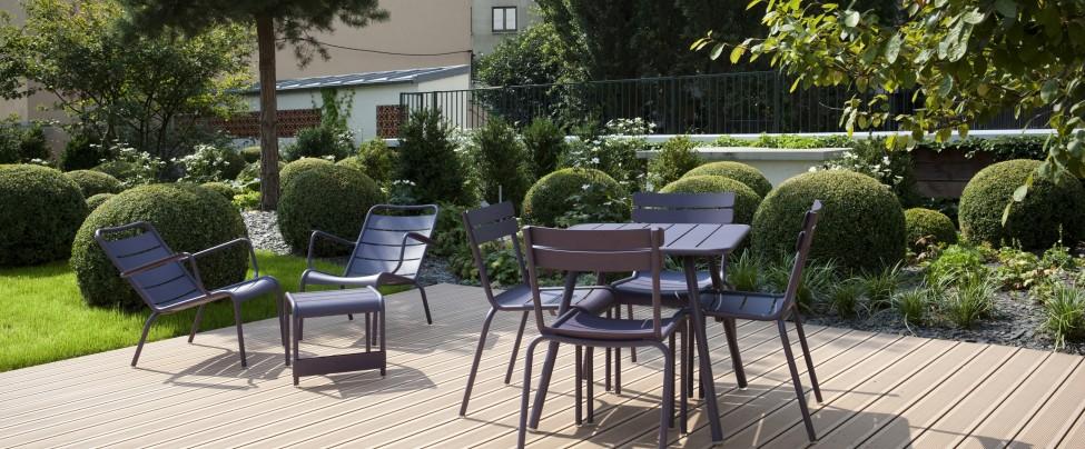 Aménagement d'un espace exterieur de détente, repos - Réalisation LAGARDERE - Boulogne Billancourt