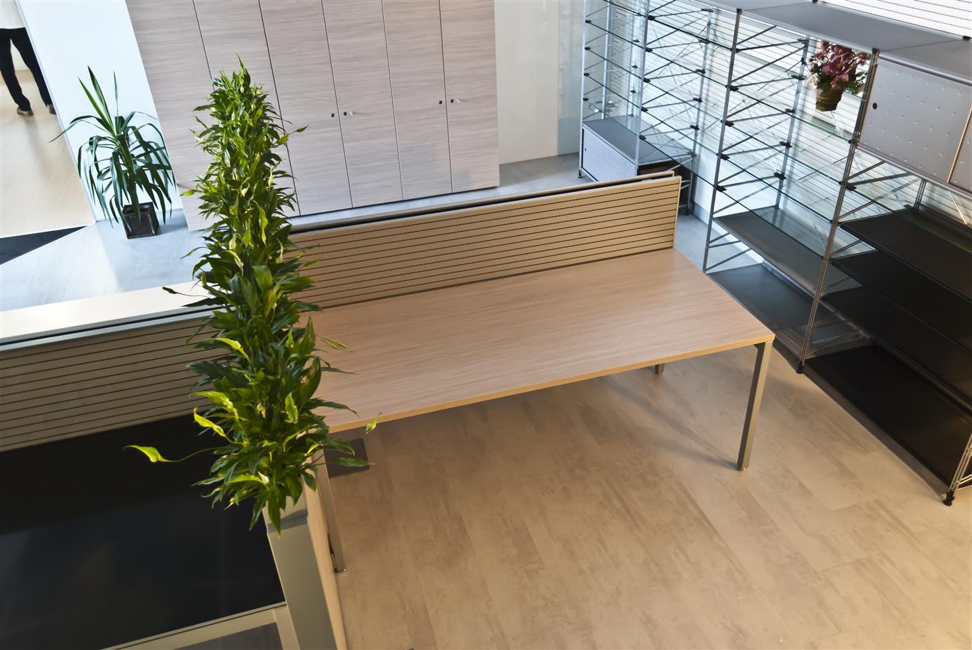 Cloisonnette acoustique blanche pour bench Stefani Office