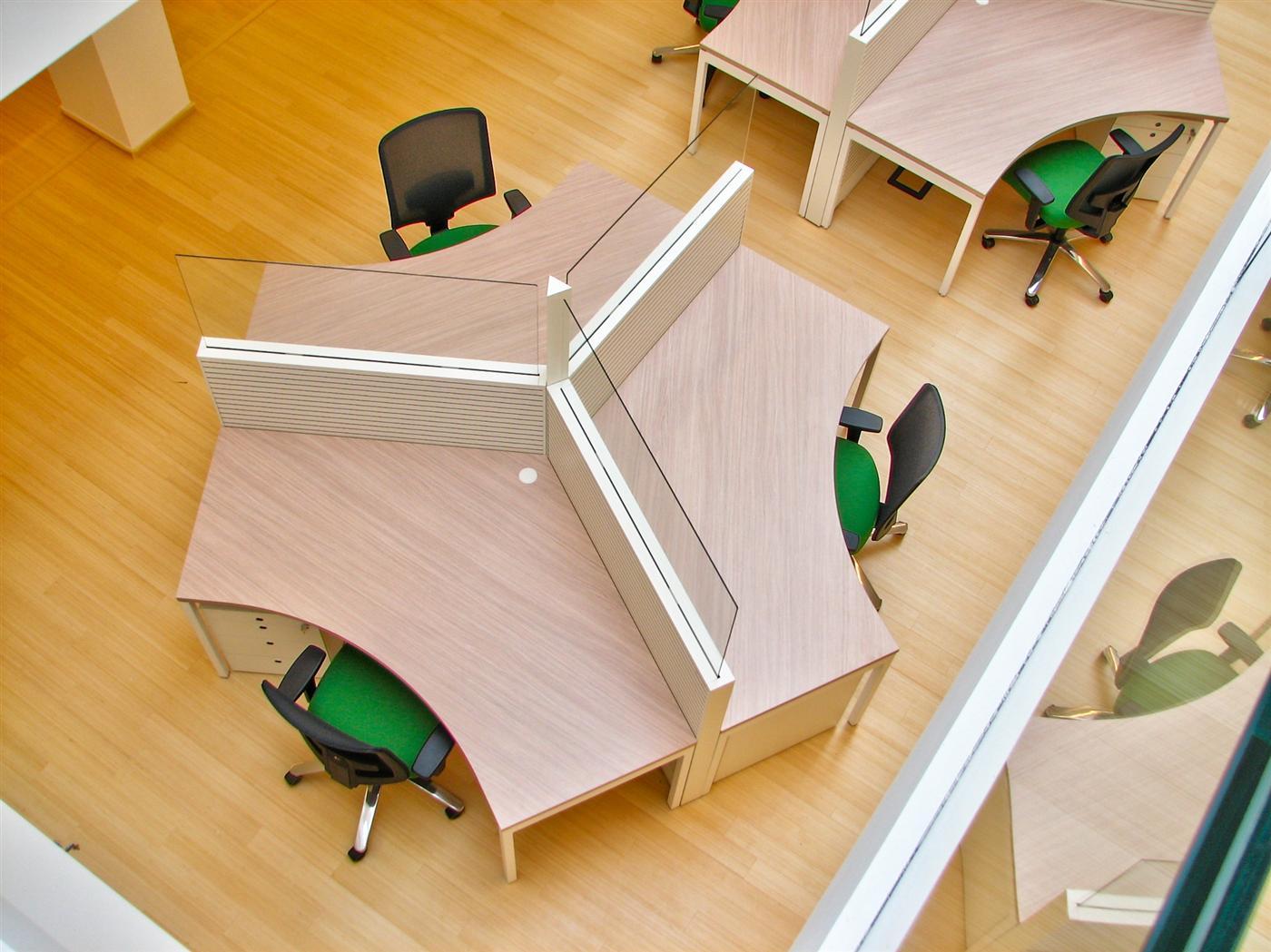 Cloisonnette de bureau acoustique blanche Stefani Office