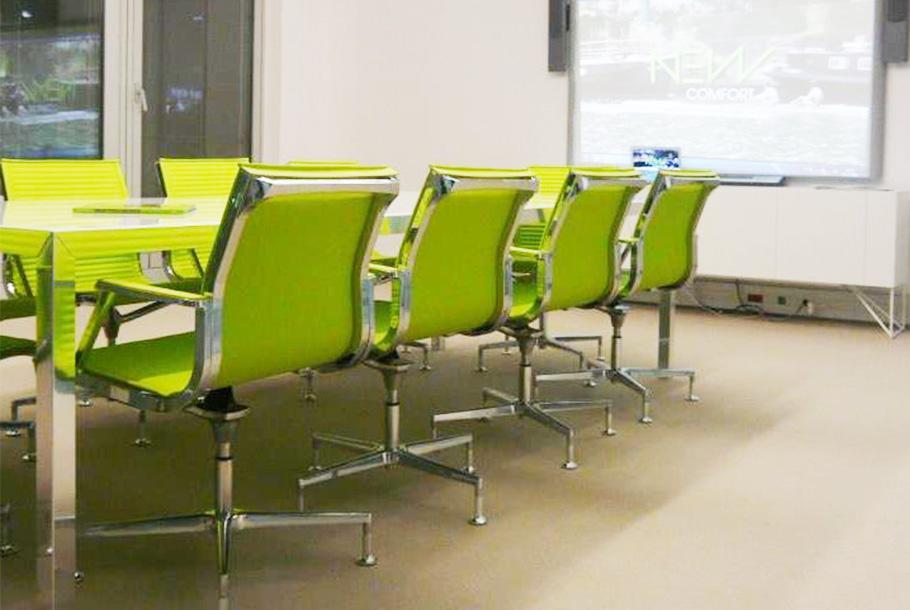 Aménagement d'un espace réunion avec siège UNA - Réalisation ZUBLIN - Paris