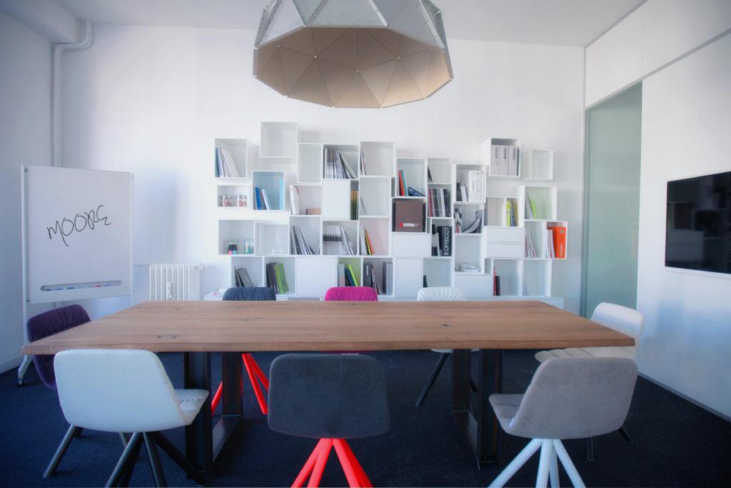 Aménagement d'un bureau destiné aux réunions d'équipes - Réalisation SHOWROOM MOORE - Paris 3