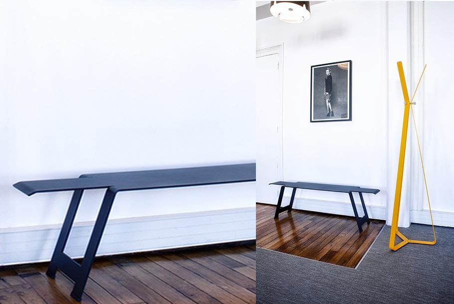 Aménagement d'un petit espace d'accueil, attente - Réalisation SHOWROOM MOORE - Paris 3