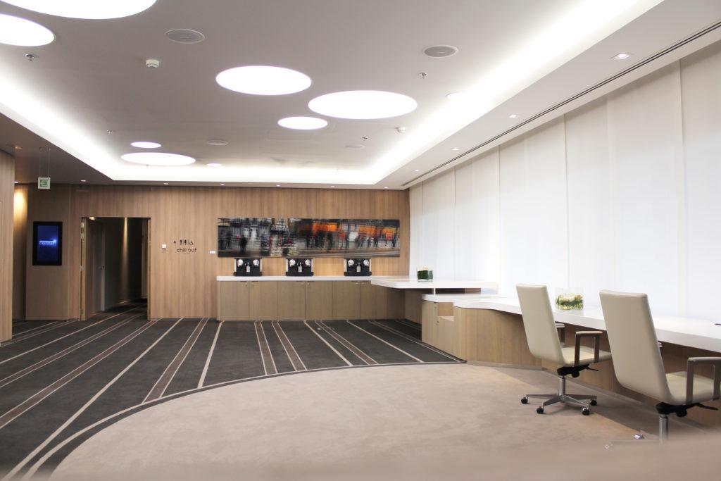 Aménagement d'un espace ouvert, pour travail collaboratif - Réalisation PULLMAN - Bruxelles