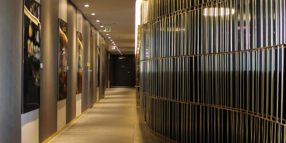 Aménagement hall hôtel Pullman Brussel Midi
