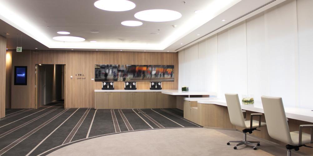 Aménagement salle de réunion hôtel Pullman Brussel Midi