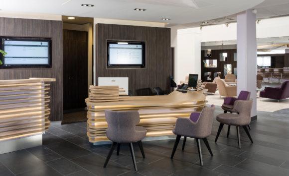 Aménagement Design Réception hôtel THALAZUR ANTIBES