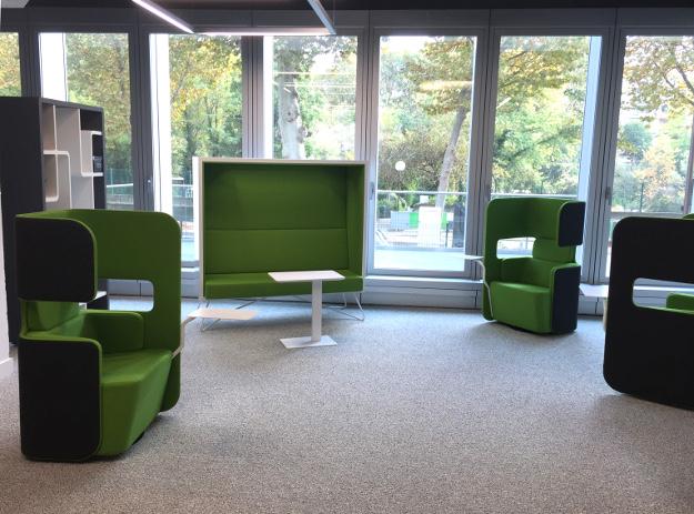 Aménagement d'un espace détente, réunion informel - Réalisation ZUBLIN - Paris
