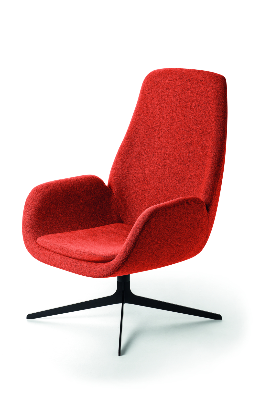 Fauteuil Mysa Lounge pieds métallique (profil)