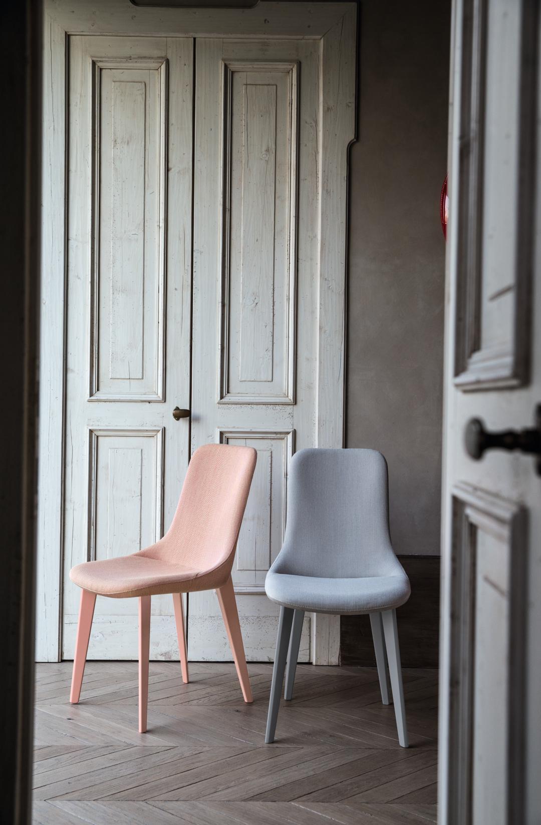 Duo de chaises Ascot rose et bleu Bross
