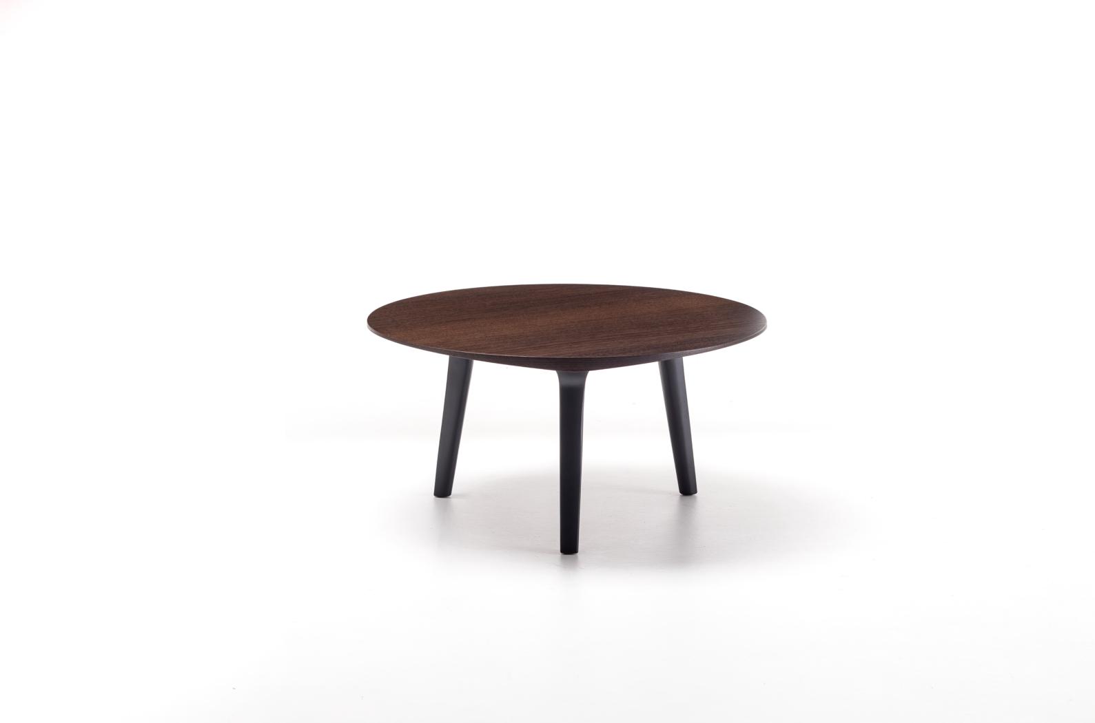 Table basse Ademar Coffee de Bross piètement et plateau en bois teinté
