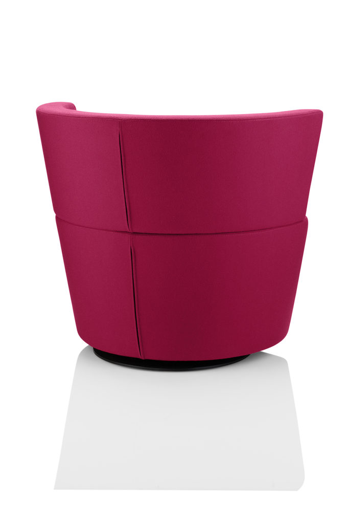 Fauteuill enveloppant dossier bas Peek and Boo Boss Design - Arrière