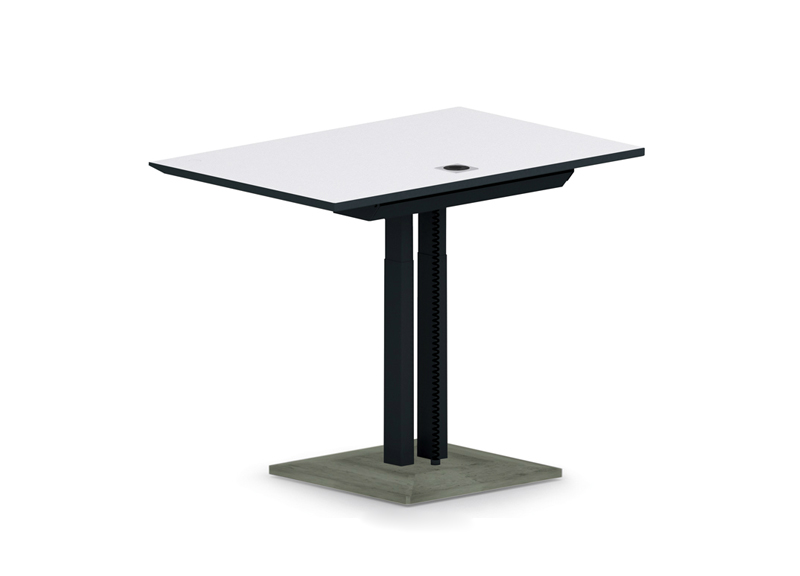 Table avec pieds central en béton Jazz Narbutas