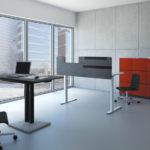 Table haute et bureau individuel et rangements jazz Narbutas