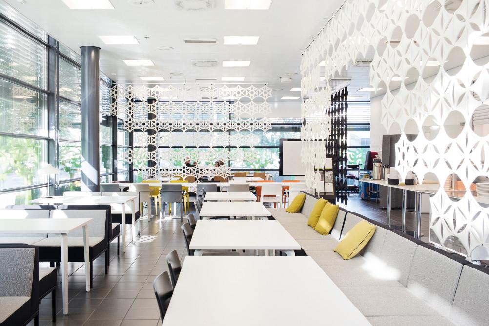 Banquette Cube martela salle de restaurant