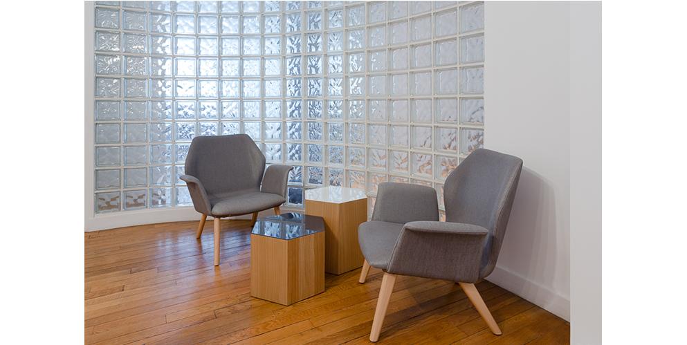 espace d'attente, mobilier pour start-up - See Concept, Paris