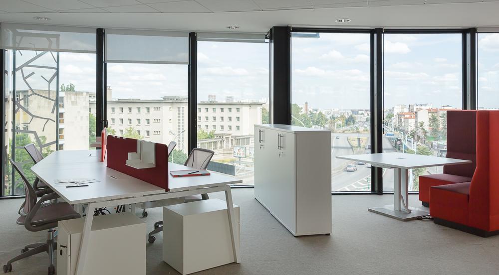 Aménagement d'open space avec panneaux acoustique - Réalisation TNS - Paris