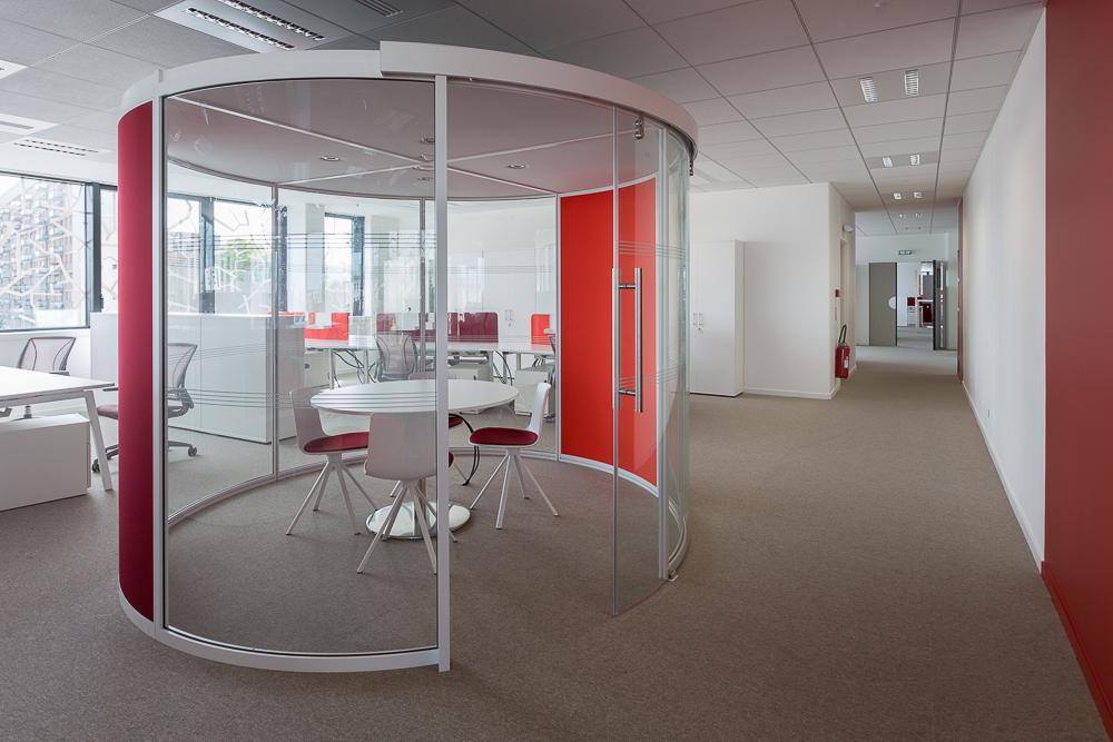 Aménagement de bulles de réunion - Réalisation TNS - Paris