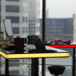 table air - rouge et jaune