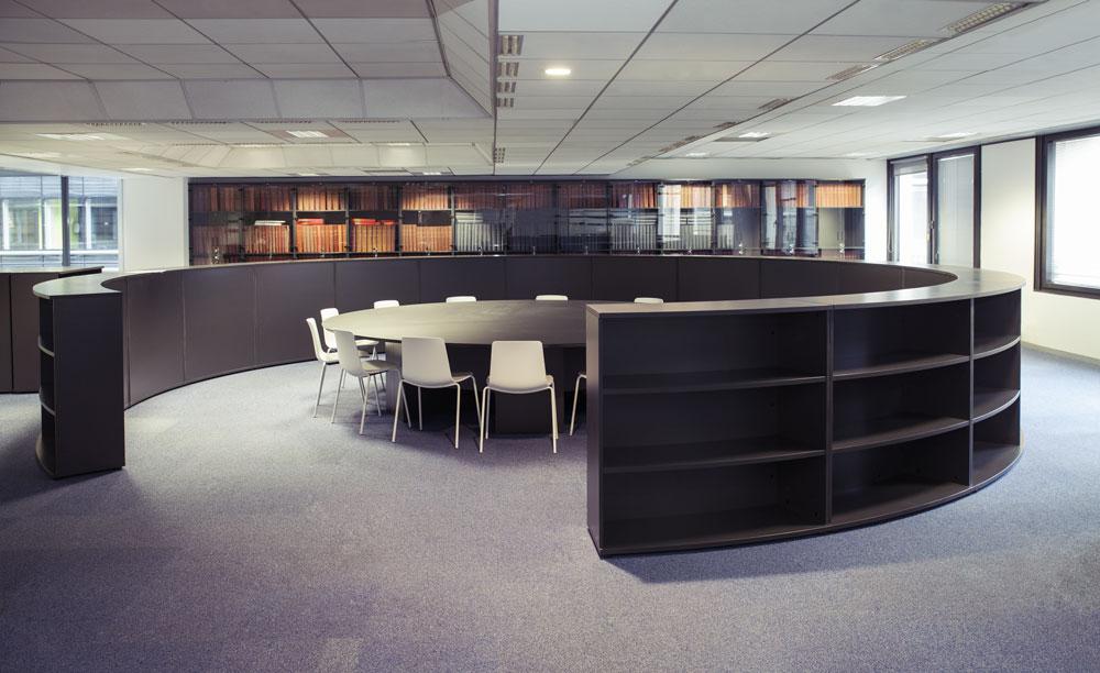 Aménagement d'un grand espace de réunion ouverte - Réalisation LIBERATION - Paris 9