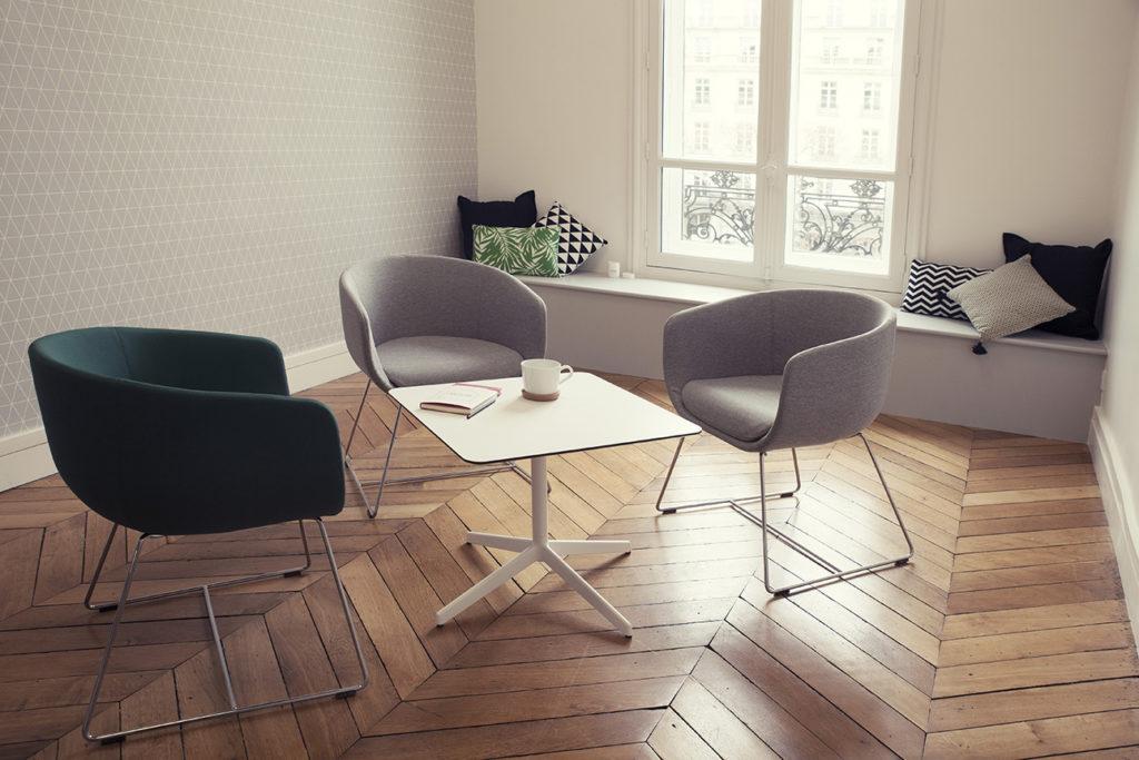 Aménagement d'un espace café, détente, repose - Réalisation SAEGUS - Paris 8