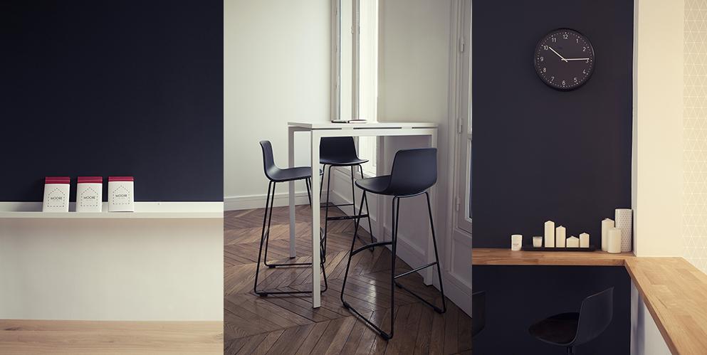 espace de réunion, tables haute - Saegus, Paris