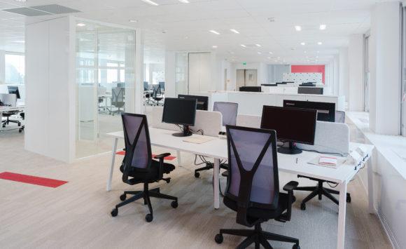 Open space, solutions acoustiques - PWC, La Défense
