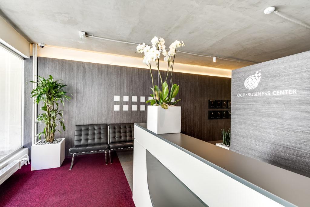 Aménagement d'espace d'accueil et d'attente - Réalisation OCP BUSINESS CENTER - Paris 16