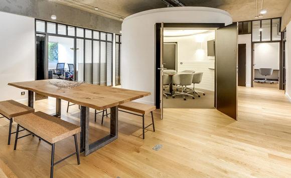 salle de réunion, solution acoustique, esprit loft new-yorkais - Saegus, Paris