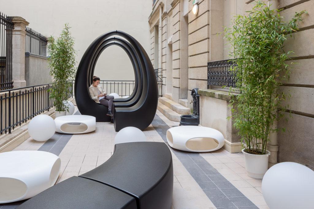 Aménagement terrasse design - SWISSLIFE Paris 8