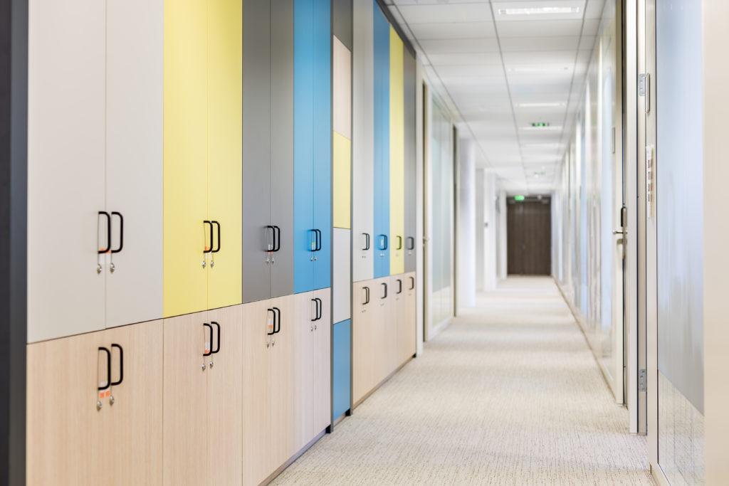 Aménagement de casiers pour bureaux - Réalisation SGP - Saint Denis