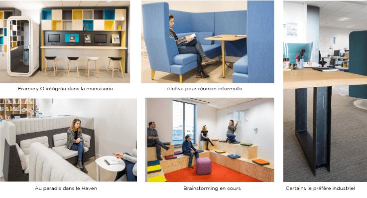 Aménagement de bureaux, espaces de réunion, espaces ouverts - Réalisation SGP - Saint Denis