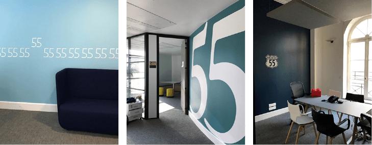 Aménagement d'espace de réunion - Réalisation FIFTY FIVE - Paris 9