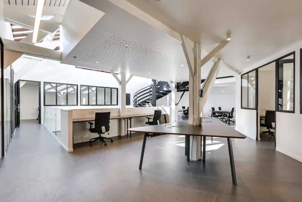 Aménagement de bureaux ouverts - Réalisation OCP BUSINESS CENTER - Paris 20