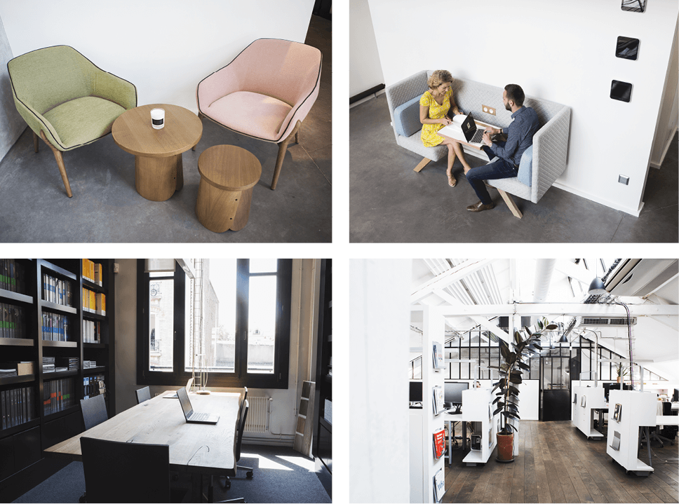 Espace cafétéria, espaces détente, espaces de réunions informelles - Réalisation L'ATELIER - Saint Ouen