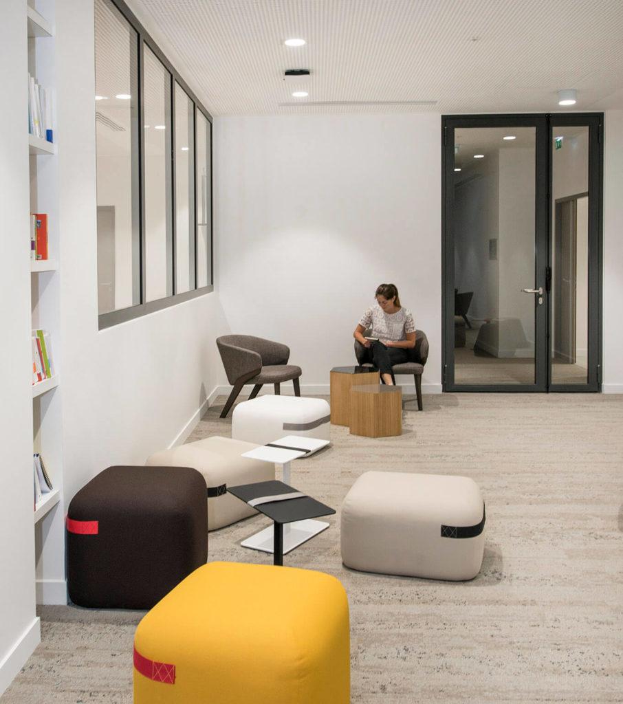Aménagement espace de travail informel - VIVACITY Paris 12