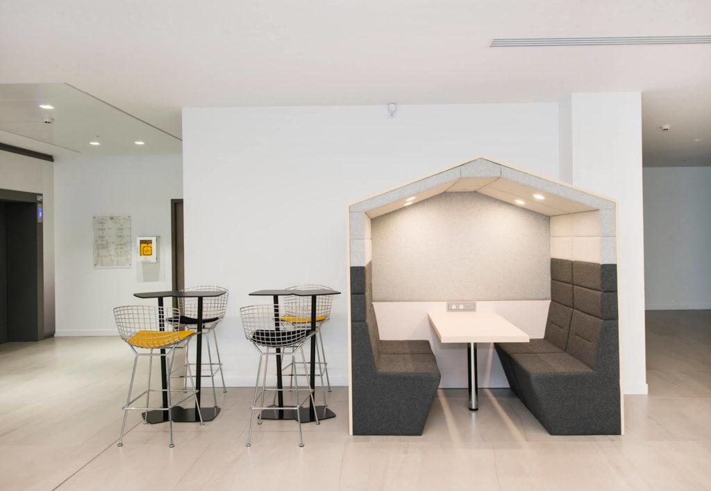 aménagement d'espace collaboratif, alcôve acoustique - VIVACITY Paris 12