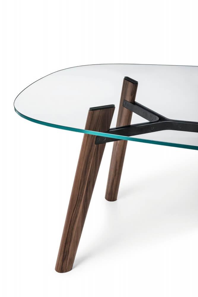 Table Beleos Bross verre