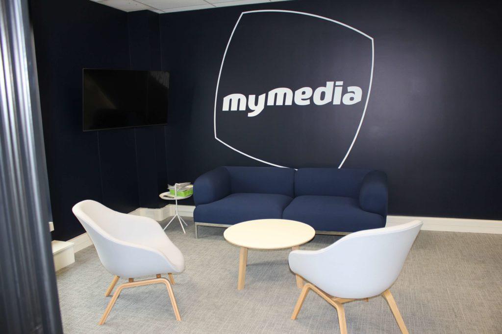 Aménagement espace lounge - MYMEDIA Levallois Perret