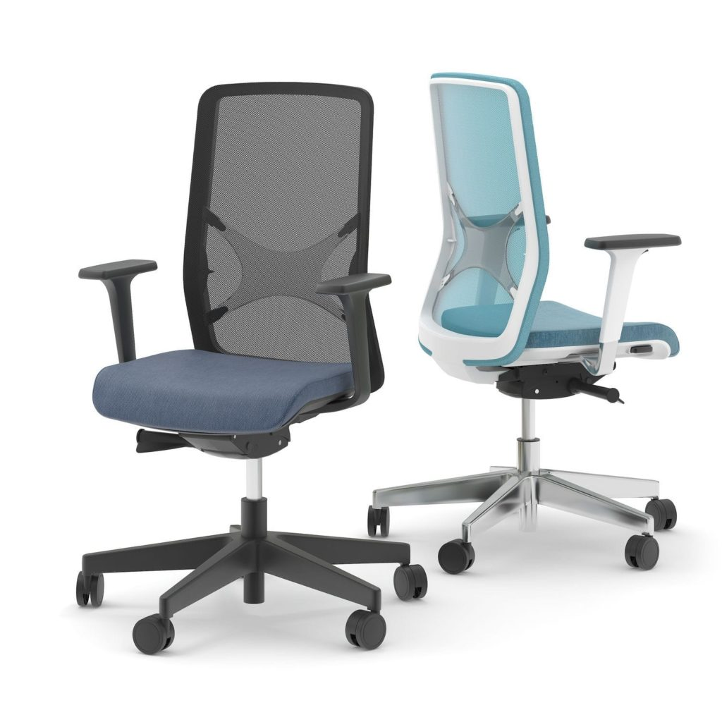 Contemporary office chair / fabric / metal / polyurethane