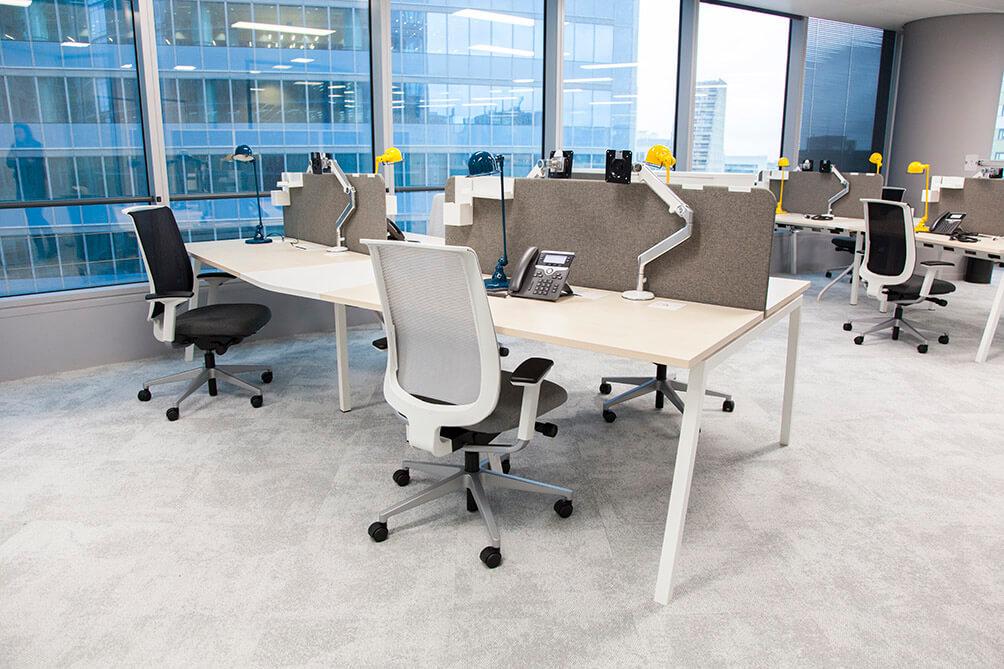 Mobilier ergonome design modulaire, open spaces, séparation acoustique