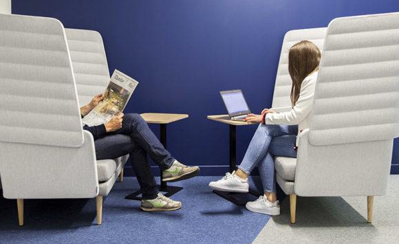 DENTAL MONITORING - Aménagement siège social : open space, salles de réunion, cafétéria, espaces lounge