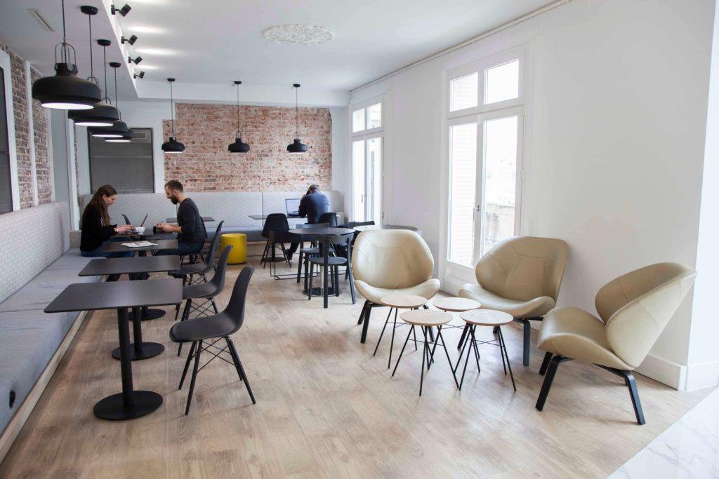 Aménagement espace cafétéria - Réalisation LES NOUEVAUX HERITIERS - Paris 9