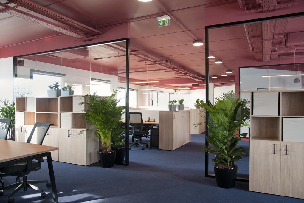 Aménagement d'un open space adapté au flex office - Réalisation CREPUSCULE - Clichy