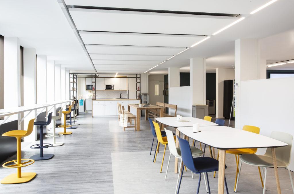 Aménagement d'un espace de restauration et de détente - Réalisation ARKADIN - Paris 17