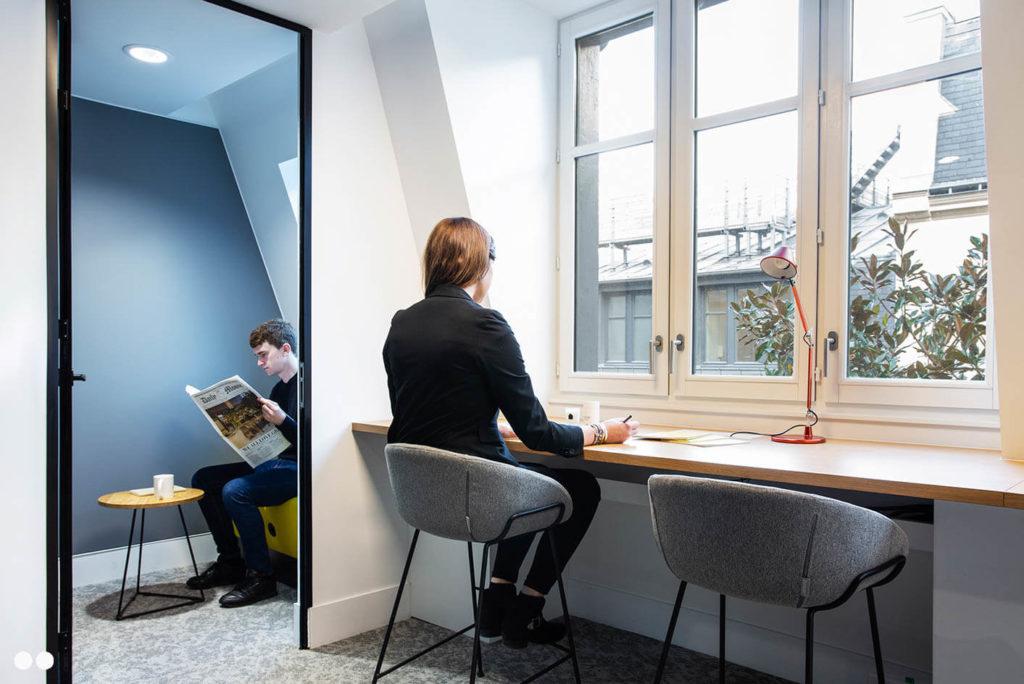 Aménagement espace de travail ponctuel - JUNE PARTNERS Paris 15