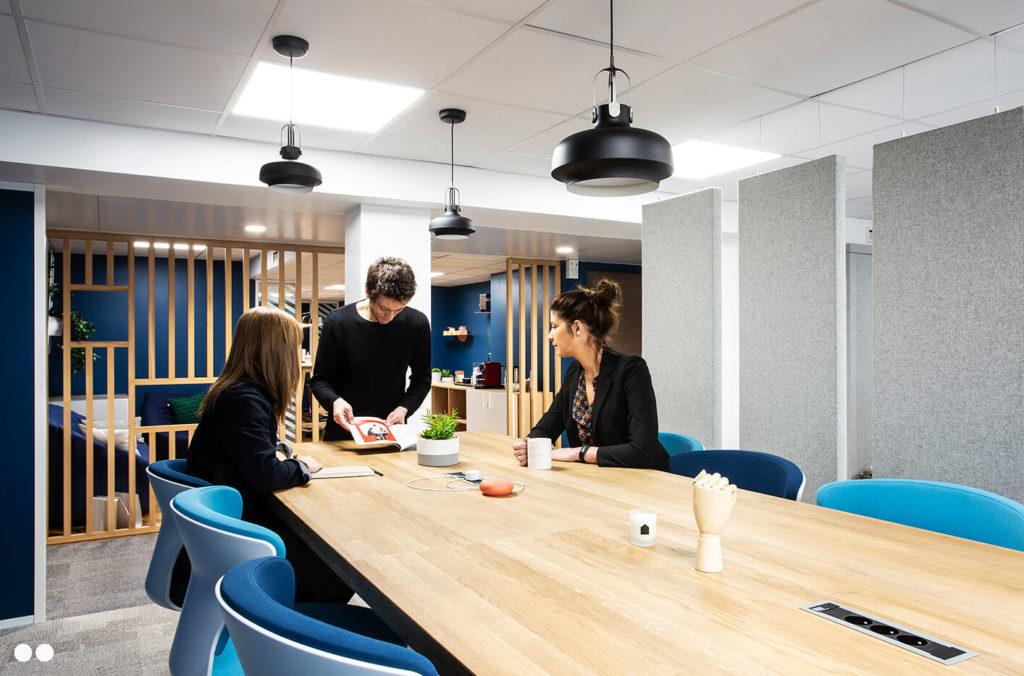 Aménagement espace de réunion ponctuelle, claustra - ACPM Paris 15