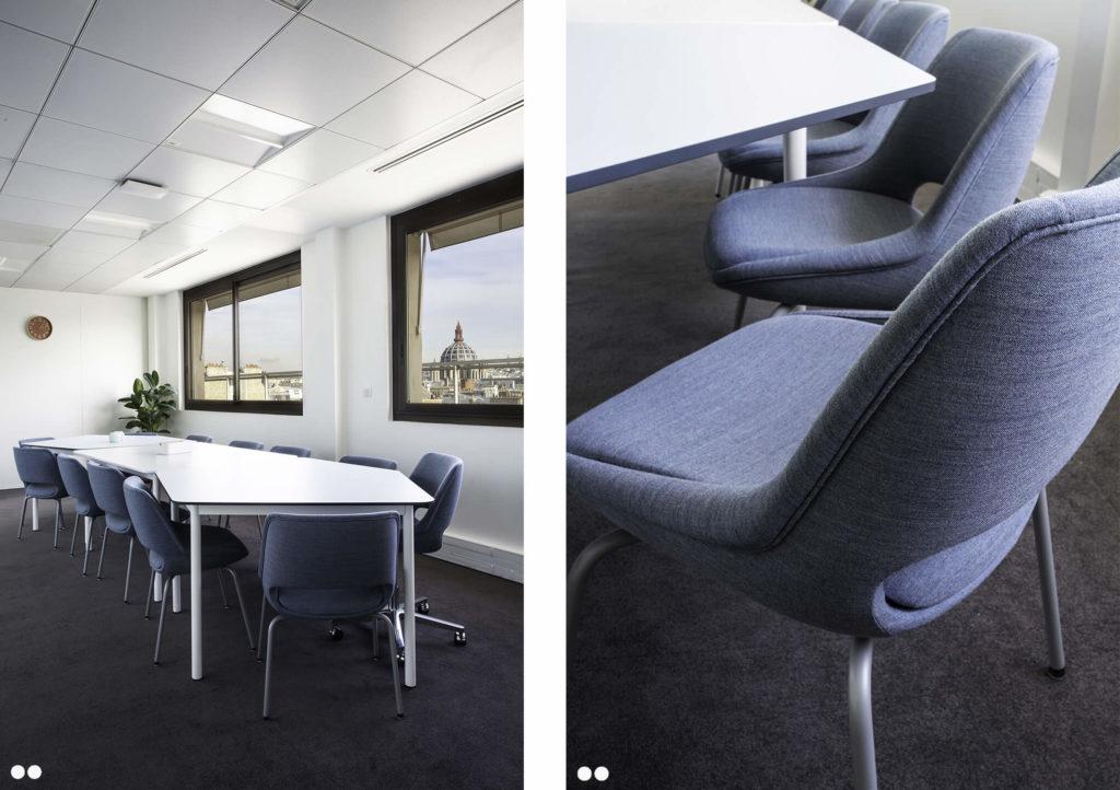 Aménagement espace de réunion- CUBIKS Paris 8
