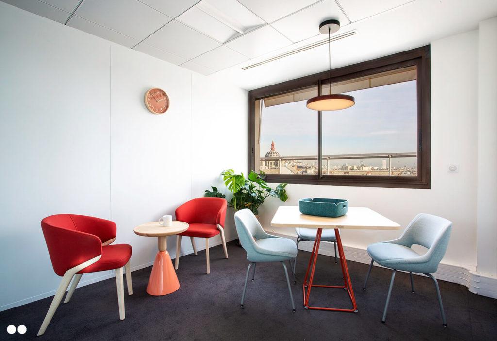 Aménagement espaces de réunion informel - CUBIKS Paris 8