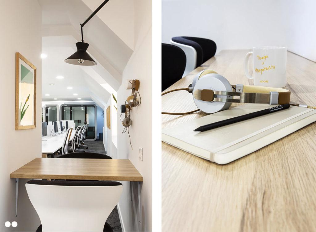 Optimisation d'espace dans un environnement de travail - Réalisation Cafeyn - Paris 9