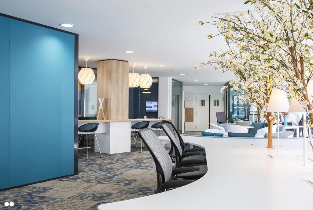 Aménagement open spaces espaces de travail - AXYS Consultants, Levallois Perret